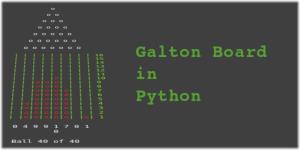 Galton Board in Python