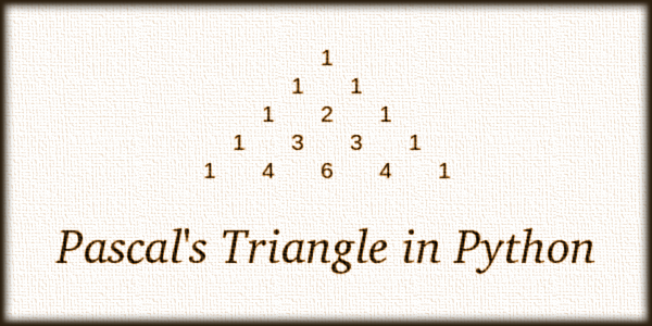 Pascal's Triangle in Python