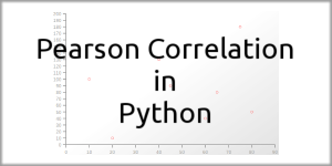 Pearson Correlation in Python