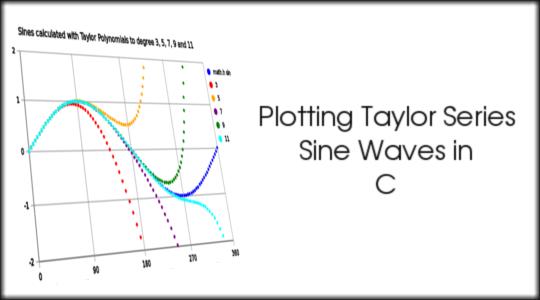 Plotting Taylor Series Sine Waves in C