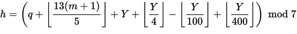 Zeller's Congruence