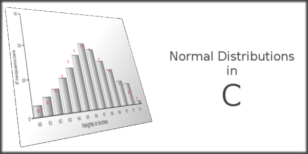 Normal Distributions in C