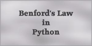 Benford's Law in Python
