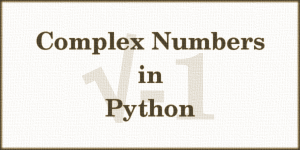 Complex Numbers in Python