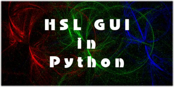 HSL GUI in Python