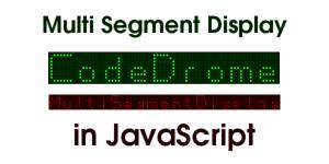 Multi Segment Display in JavaScript