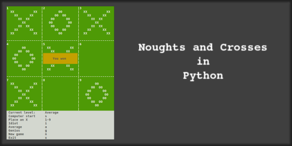Noughts and Crosses in Python