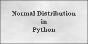 Normal Distributions in Python