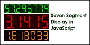Seven Segment Display in JavaScript